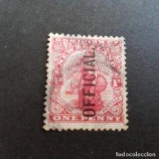 Sellos: NUEVA ZELANDA,NEW ZEALAND,1910,ALEGORÍA COMERCIO,SOBRECARGA,SCOTT O34,USADO,(LOTE AG). Lote 132909070