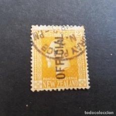 Sellos: NUEVA ZELANDA,NEW ZEALAND,1915-1919,JORGE V,SOBRECARGA,SCOTT O45,USADO,(LOTE AG). Lote 132909498