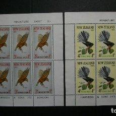 Sellos: NUEVA ZELANDA-1965-Y&T BL 17/8*(MH)-SIN GOMA. Lote 136199390