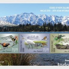 Sellos: NEW ZEALAND 2018 - MACAO 2018 EXHIBITION MINT MINIATURE SHEET MNH. Lote 136526590