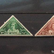 Sellos: NUEVA ZELANDA-1943-Y&T 264/5**(MNH)-SIN FIJASELLOS. Lote 136606034