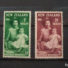 Sellos: NUEVA ZELANDA-1950-Y&T 303/4**(MNH)-SIN FIJASELLOS. Lote 136606210