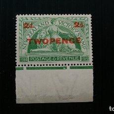 Sellos: NUEVA ZELANDA-1922-Y&T 175**(MNH)-SIN FIJASELLOS. Lote 136656236