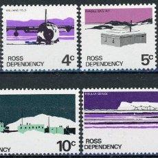 Sellos: NUEVA ZELANDA - ROSS 1972 IVERT 9/14 *** SERIE BÁSICA - ANTARTIDA - IMAGENES DIVERSAS. Lote 137634386