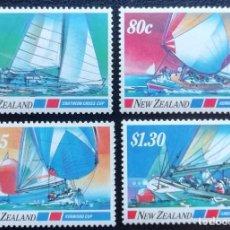 Sellos: 1987. DEPORTES. NUEVA ZELANDA. 950 / 953. NUEVO. VELA. SOUTHERN CROSS CUP.. Lote 152918974