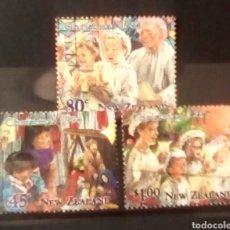Sellos: NUEVA ZELANDA NAVIDAD SERIE DE SELLOS USADOS. Lote 152931248