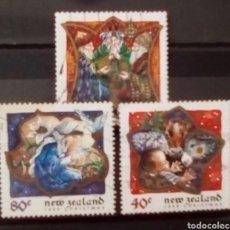 Sellos: NUEVA ZELANDA NAVIDAD SERIE DE SELLOS USADOS. Lote 153564928