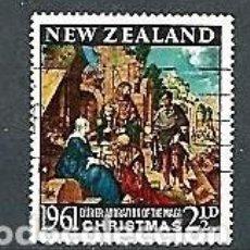 Sellos: NUEVA ZELANDA,1961,NAVIDAD,USADOS,YVERT 408. Lote 154363010