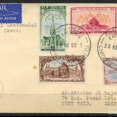 Sellos: NUEVA ZELANDA, SOBRE, PHILATELIC EXHIBITION, 1950, STAMPS NEW ZEALAND. Lote 154452618