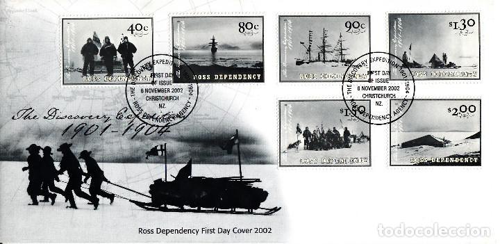 SPD -FDC - NUEVA ZELANDA- ROSS DEPENDENCY 2002 -EXPEDICIÓN AL ANTÁRTICO 1901-1904 (Sellos - Extranjero - Oceanía - Nueva Zelanda)