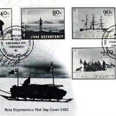 Sellos: SPD -FDC - NUEVA ZELANDA- ROSS DEPENDENCY 2002 -EXPEDICIÓN AL ANTÁRTICO 1901-1904. Lote 162012954