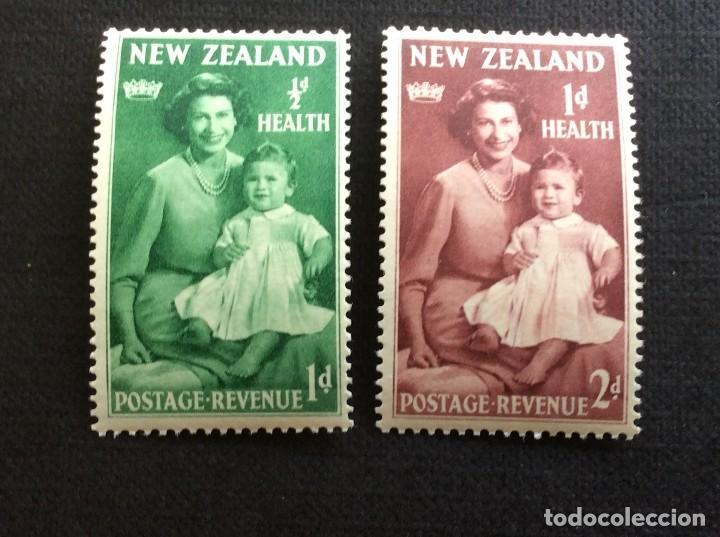 NUEVA ZELANDA Nº YVERT 305/6*** AÑO 1959. PRO OBRAS DE LA INFANCIA. PRINCESA ISABEL (Sellos - Extranjero - Oceanía - Nueva Zelanda)