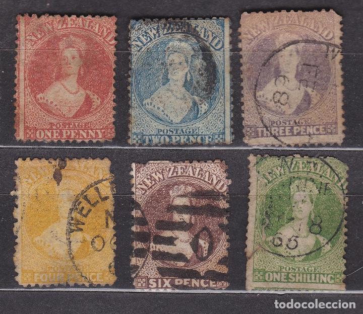NUEVA ZELANDA 1864 - 1867 USADOS - LOTE - 92 (Sellos - Extranjero - Oceanía - Nueva Zelanda)