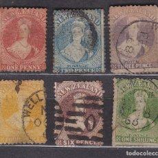 Sellos: NUEVA ZELANDA 1864 - 1867 USADOS - LOTE - 92. Lote 175134434