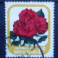 Sellos: NUEVA ZELANDA FLORES SELLO USADO. Lote 175798552