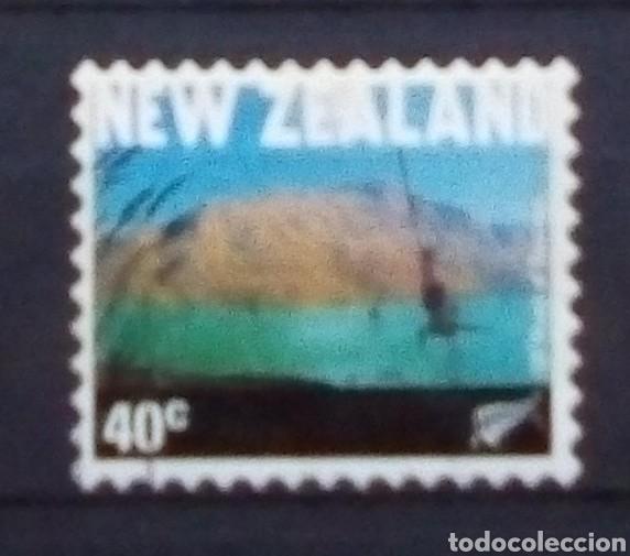 NUEVA ZELANDA PUENTING SELLO USADO (Sellos - Extranjero - Oceanía - Nueva Zelanda)