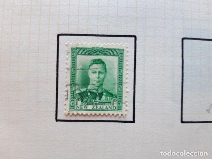 Sellos: Nueva Zelanda 1 hoja de Album con 1 sellos New Zeland - Foto 2 - 179345348