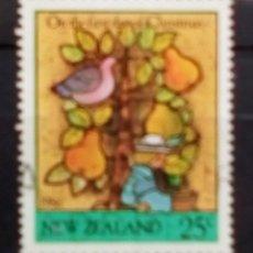 Sellos: NUEVA ZELANDA NAVIDAD SELLO USADO. Lote 182213593