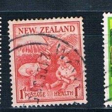 Sellos: NUEVA ZELANDA 3 SELLOS EL PRIMERO MH*. Lote 183036733