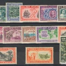 Sellos: NUEVA ZELANDA. MH *YV 243/55. 1940. SERIE COMPLETA. MAGNIFICA. (SG613/25 70£) YVERT 2008: 100 EUROS. Lote 183133190