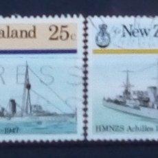 Sellos: NUEVA ZELANDA BARCOS SERIE DE SELLOS USADOS. Lote 183188873
