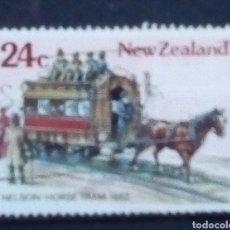 Sellos: NUEVA ZELANDA TRANVIA ANTIGUO SELLO USADO. Lote 183276153