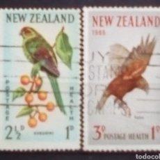 Sellos: NUEVA ZELANDA AVES SERIE DE SELLOS USADOS. Lote 183797872