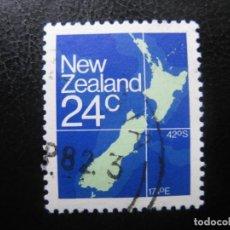 Sellos: -NUEVA ZELANDA 1982, MAPA DE NUEVA ZELANDA, YVERT 810. Lote 188553378