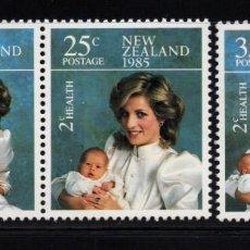 Sellos: NUEVA ZELANDA 903/05** - AÑO 1985 - LA FAMILIA DEL PRINCIPE DE GALES. Lote 190152212