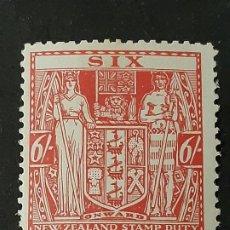 Sellos: NUEVA ZELANDA NEW ZEALAND, 1931-38 YVERT FISCALES 32A*. Lote 191379053