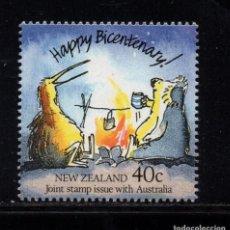 Sellos: NUEVA ZELANDA 995** - AÑO 1988 - BICENTENARIO DE AUSTRALIA. Lote 192164561