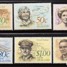 Sellos: NUEVA ZELANDA 1066/71** - AÑO 1990 - PERSONAJES. Lote 192165560