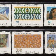 Sellos: NUEVA ZELANDA 1078/83** - AÑO 1990 - HERITAGE DE NUEVA ZELANDA - LOS MAORIS. Lote 192166160