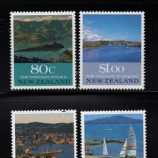 Sellos: NUEVA ZELANDA 1072/75** - AÑO 1990 - 150º ANIVERSARIO DE CIUDADES. Lote 192362582
