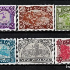 Sellos: NUEVA ZELANDA 1028/33** - AÑO 1989 - HERITAGE NEOZELANDES - LOS HOMBRES. Lote 192569932