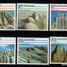 Sellos: NUEVA ZELANDA 1120/25** - AÑO 1991 - FORMACIONES ROCOSAS. Lote 192570947