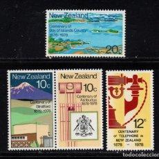 Sellos: NUEVA ZELANDA 706/09** - AÑO 1978 - ANIVERSARIOS. Lote 192813851