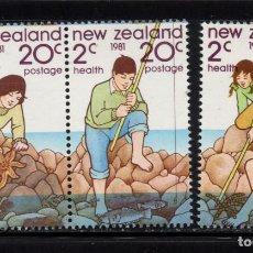 Sellos: NUEVA ZELANDA 798/800** - AÑO 1981 - MEDIOAMBIENTE MARINO. Lote 192814441