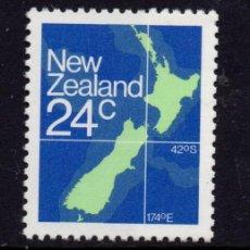 Sellos: NUEVA ZELANDA 810** - AÑO 1982 - MAPA DE NUEVA ZELANDA. Lote 192814593