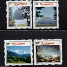 Sellos: NUEVA ZELANDA 599/602** - AÑO 1973 - MONTAÑAS. Lote 192907520