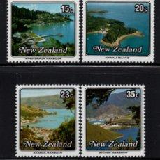 Sellos: NUEVA ZELANDA 741/44** - AÑO 1979 - PUERTOS E ISLAS. Lote 192907816