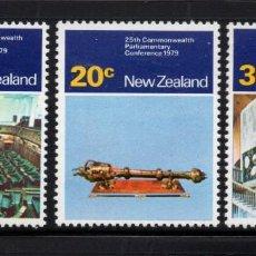 Sellos: NUEVA ZELANDA 757/59** - AÑO 1979 - CONFERENCIA PARLAMENTARIA DE LA COMMONWEALTH. Lote 192908012