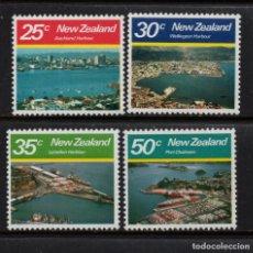 Sellos: NUEVA ZELANDA 770/73** - AÑO 1980 - PUERTOS DE NUEVA ZELANDA. Lote 192908353