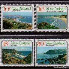 Sellos: NUEVA ZELANDA 691/94** - AÑO 1977 - PAISAJES MARITIMOS. Lote 193117745