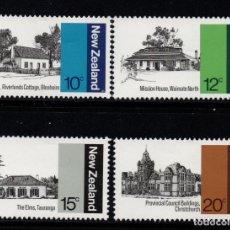 Sellos: NUEVA ZELANDA 737/40** - AÑO 1979 - ARQUITECTURA DE NUEVA ZELANDA. Lote 193117971