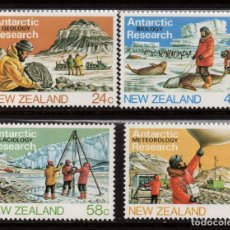 Sellos: NUEVA ZELANDA 859/62** - AÑO 1984 - PRESENCIA NEOZELANDESA EN LA ANTARTICA. Lote 193118161
