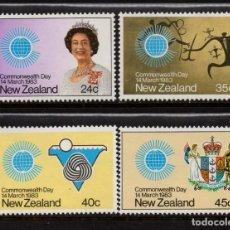 Sellos: NUEVA ZELANDA 836/39** - AÑO 1983 - DIA DE LA COMMONWEALTH. Lote 194073370