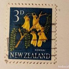 Sellos: NUEVA ZELANDA 1960-1963 MOTIVOS FLORALES. Lote 195882613