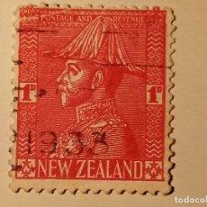Sellos: NUEVA ZELANDA 1926 REY JORGE V EN UNIFORME. Lote 195892491