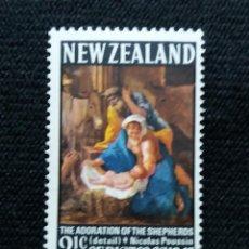 Sellos: NUEVA ZELANDA, 1,1/2C, CHRISTMAS, AÑO 19067, NUEVO.. Lote 203822213